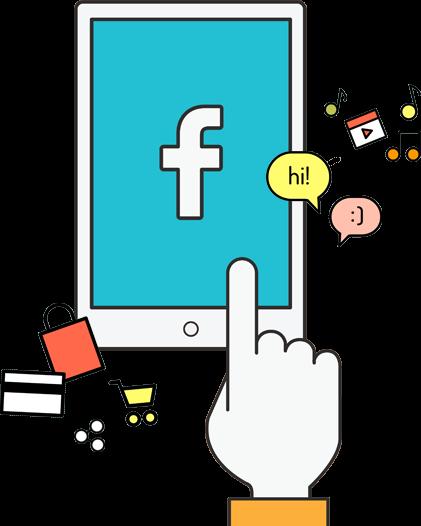Social Media Advertising Facebook Graphic